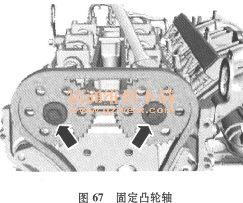 福特蒙迪欧AOBA 2. 0L发动机正时校对方法高清图片