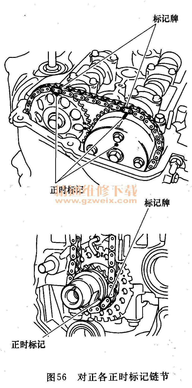 丰田威驰1.3l 2nz-fe发动机正时校对方法 - 精