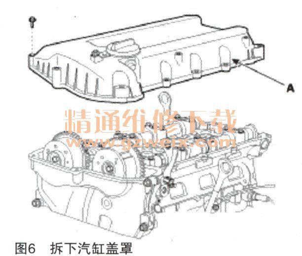现代新胜达2.4l g4ke发动机正时校对方法