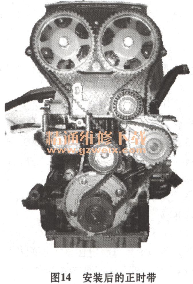 奇瑞qq6,瑞麒2 sqr473 1.3l发动机正时校对方法