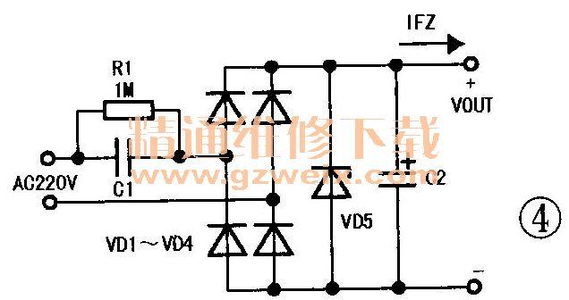 阻容降压电路的原理与元件选择图片