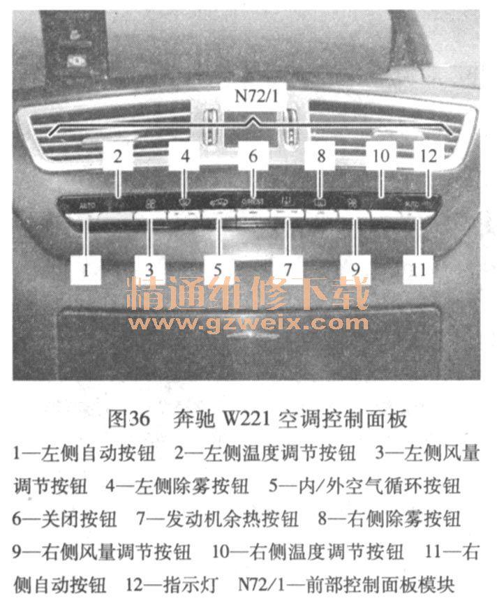 桑塔纳2000空调结构图