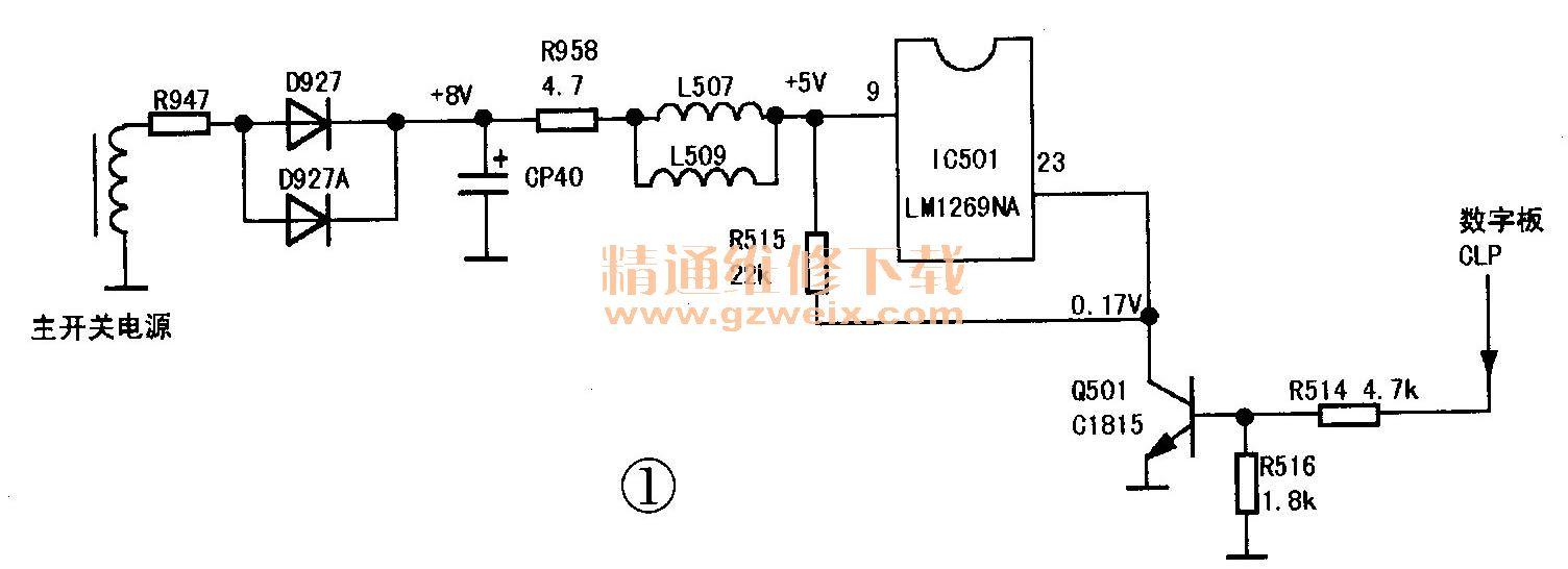 维修一台创维34t68ht型高清彩电(6d96机芯)