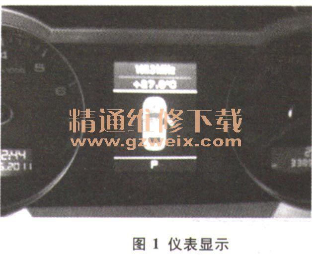 奥迪A6L组合仪表内中央显示屏上显示异常高清图片