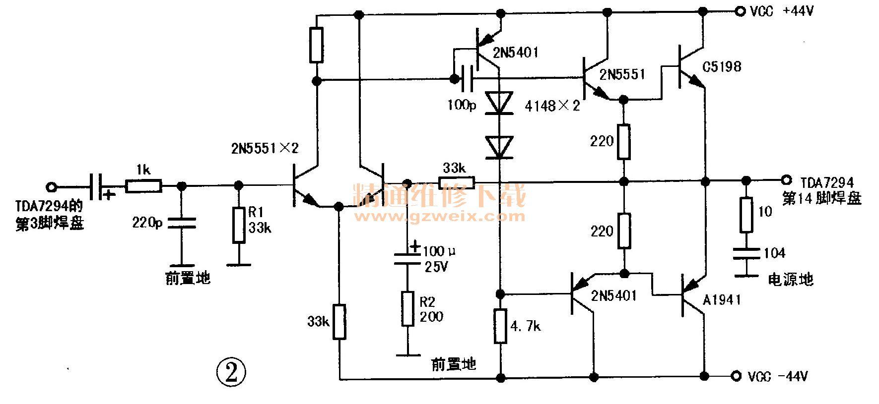 用分立元件代换音频功放块TDA729 - 精通维修下载