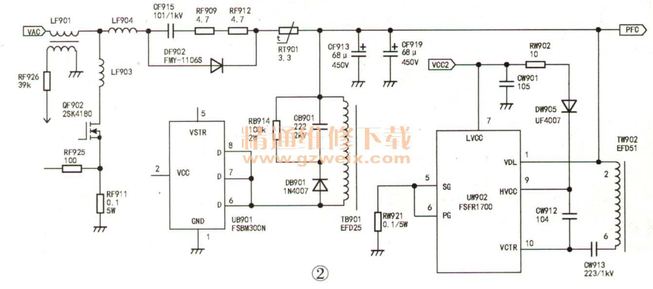 康佳电源液晶,采用34006817彩电板,不开机,待图纸魏巡拼豆图片