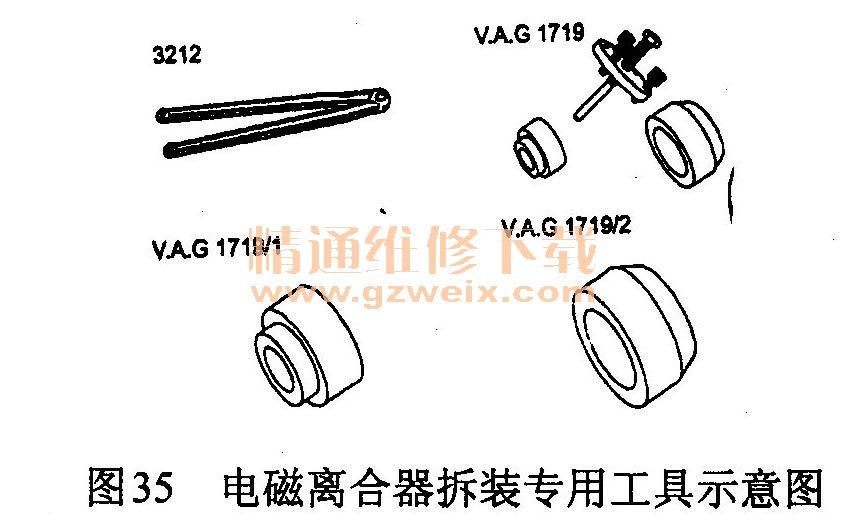电磁离合器拆装专用工具示意图