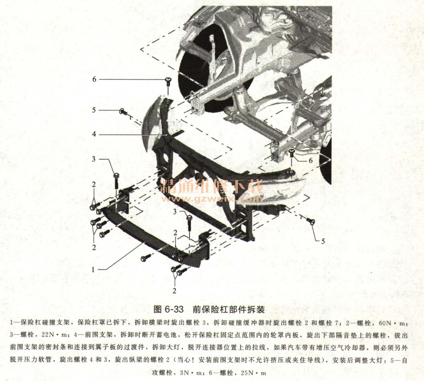 奥迪Q7车身外部饰件装配图