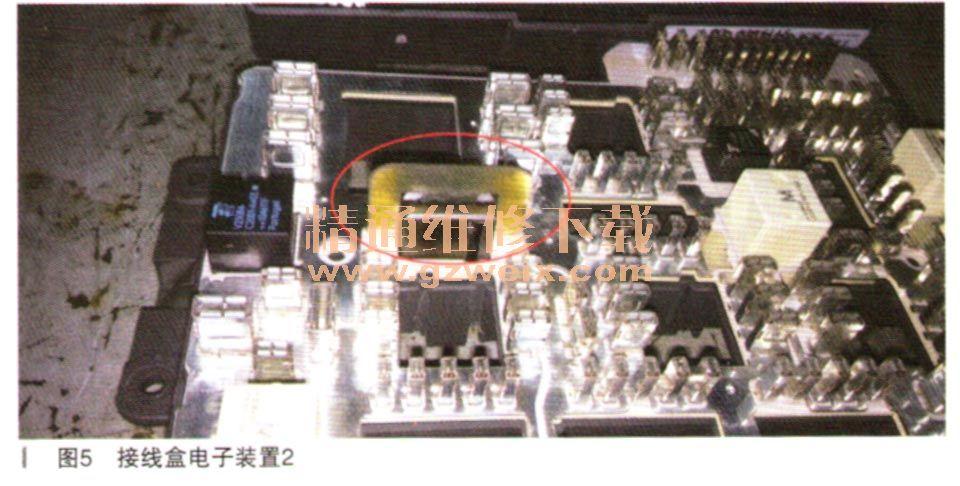 故障总结:更换烧蚀的接线盒电子装置及其连接的供电线束后,一切