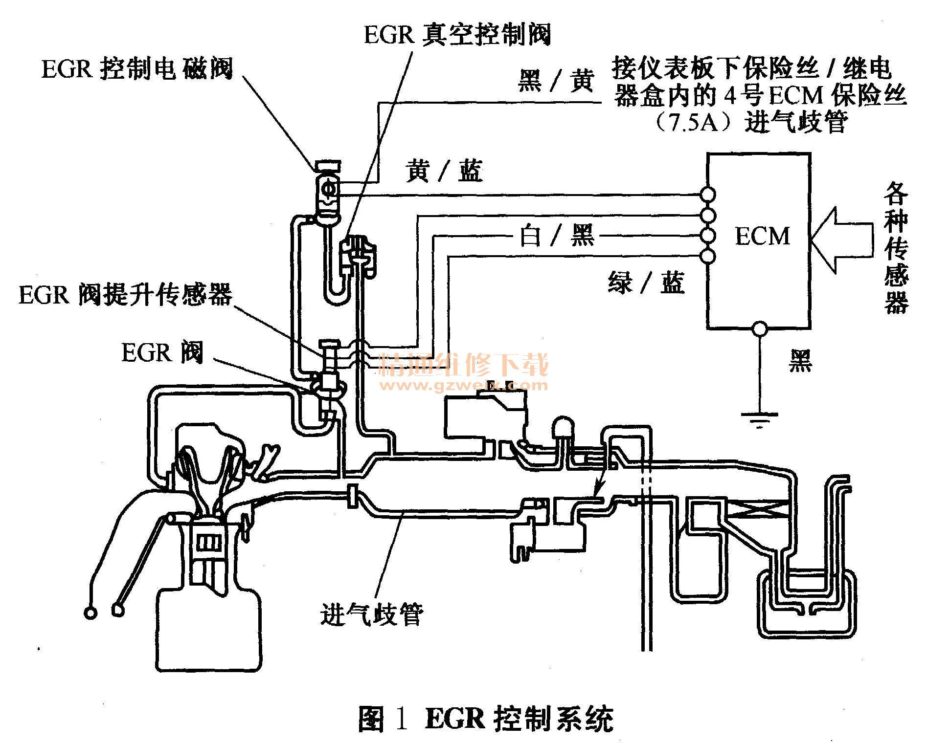 本田雅阁因egr电磁阀故障导致启动困难图片