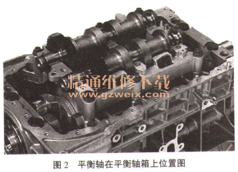 东风雪铁龙c5 ew12 a发动机平衡轴结构及装配调整
