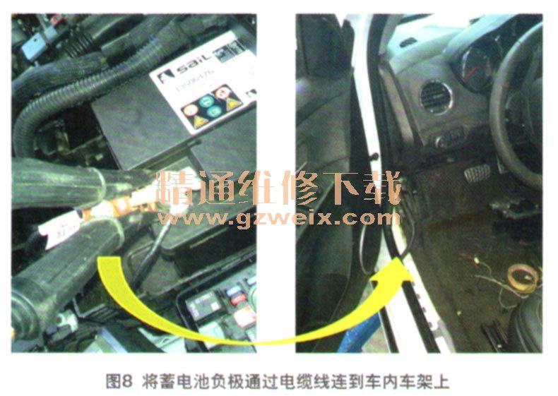 此故障点中发动机搭铁线G102因为与   蓄电池   为什么采用控制搭铁方高清图片
