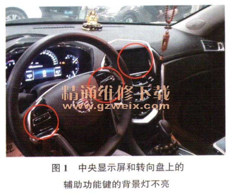 凯迪拉克srx车型most网络故障高清图片