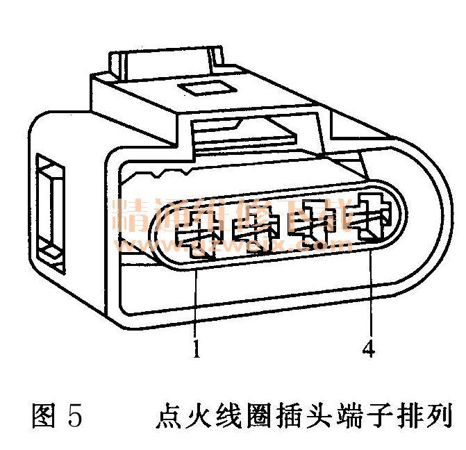 大众桑塔纳2000GSi电子点火控制系统电路故障检修高清图片