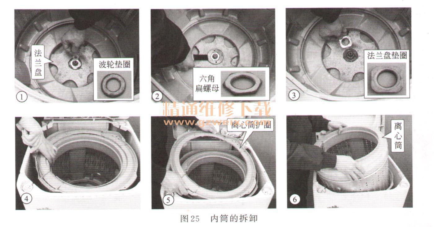 0254m)管钳或洗衣机离合器拆卸专用扳手卸下固定离心