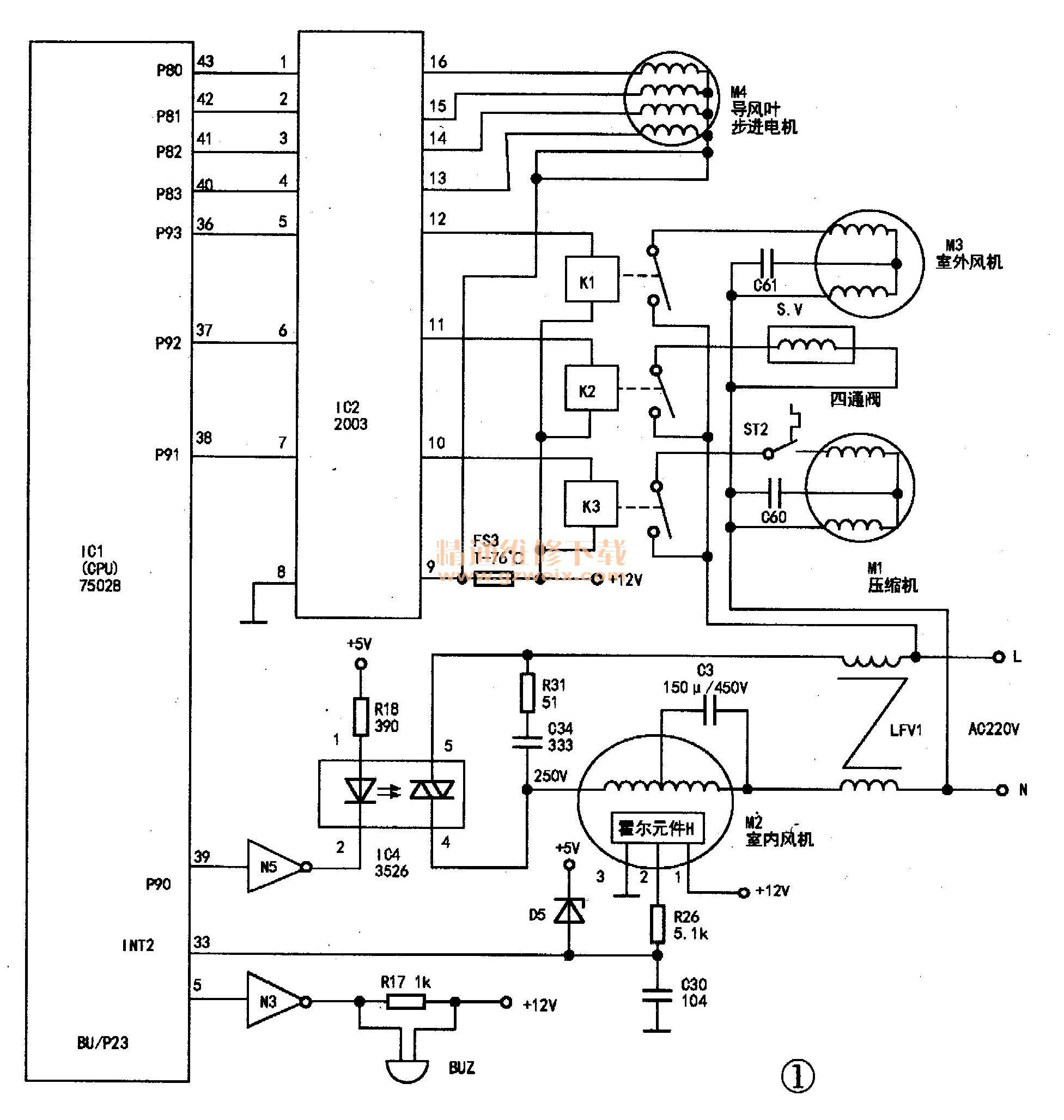 输出驱动电路的原理及检修要点简介如下