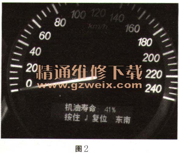 图1所示,直到机油寿命显示为100%.-2006 2009年别克君越保养灯