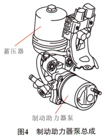 传感器(安装在制动执行器总成内)持续监测蓄压器内的压力,并将高清图片