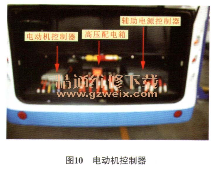 电动机控制器内部主要由控制板、驱动板、IGBT模块、电容及传感器等