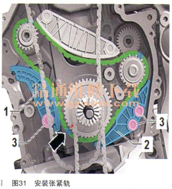 现代朗动_2016款一汽奥迪Q5 40TFSI CUHA发动机(2.0T)正时校对方法(下 ...