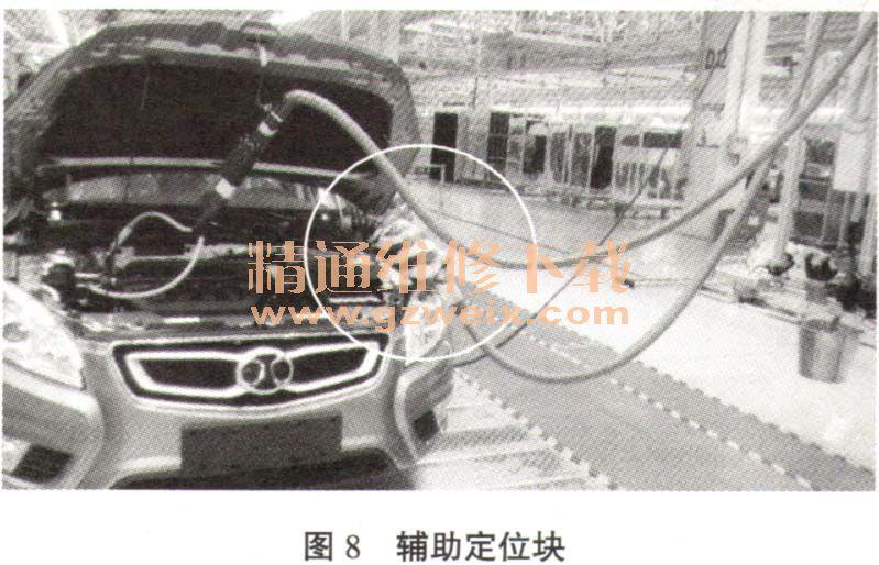 分析汽车总装线上加注制动液泄漏故障高清图片
