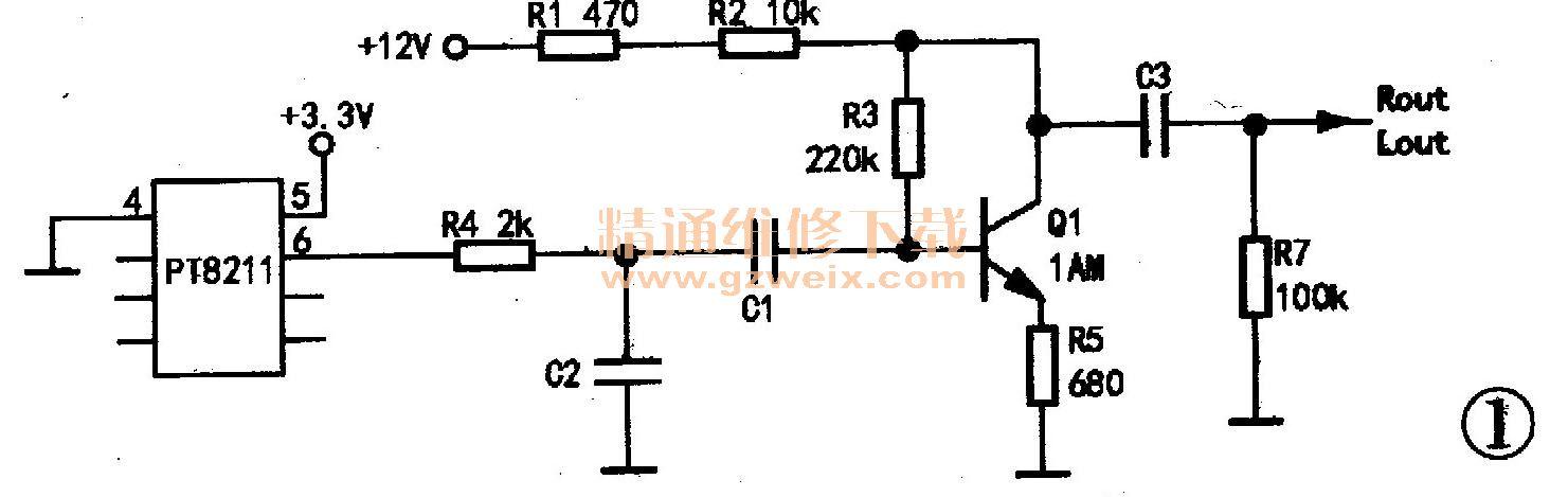 电视机信号接收结构图