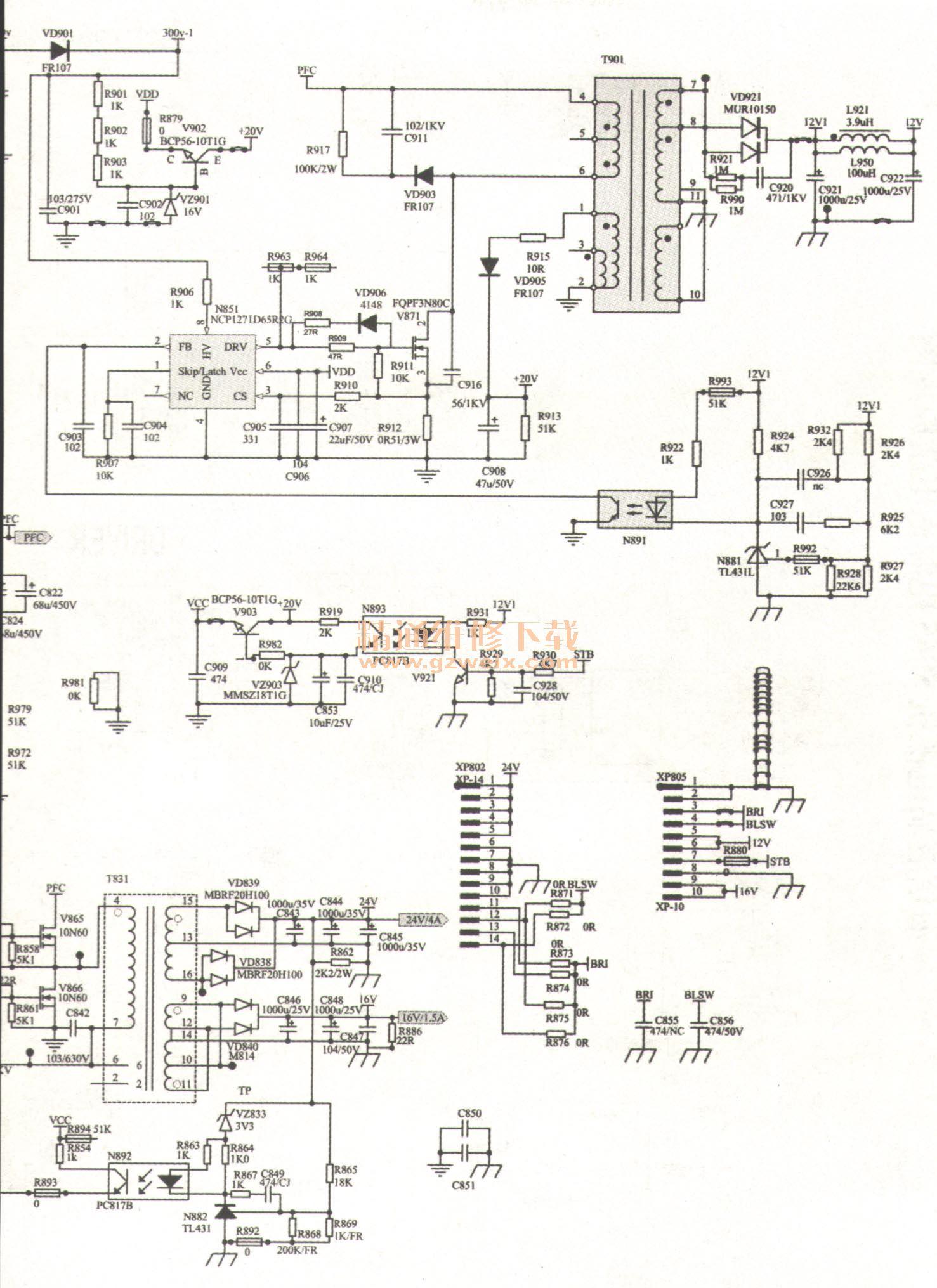 s7一200电源板原理图
