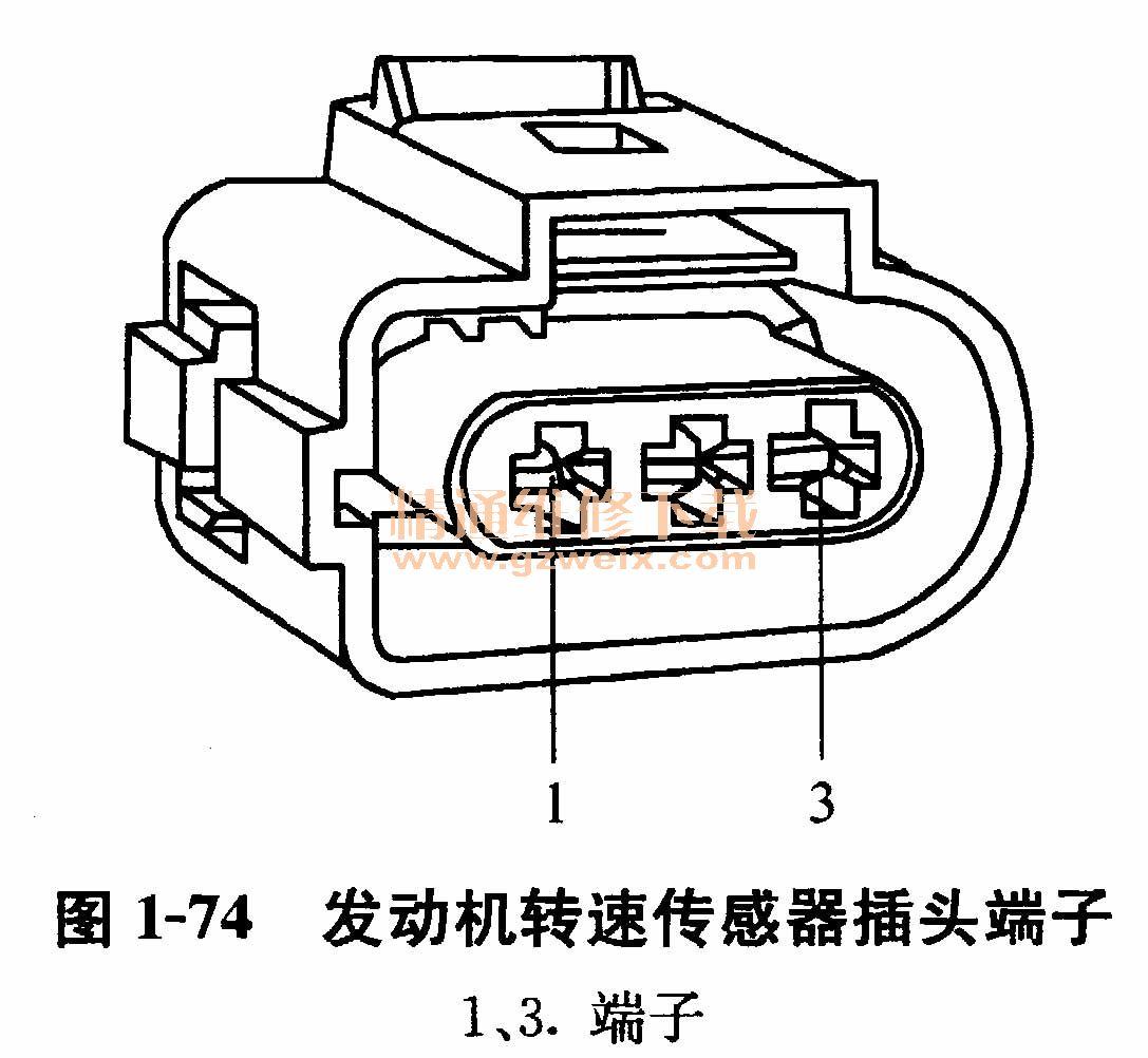 大众捷达轿车发动机转速传感器的检修