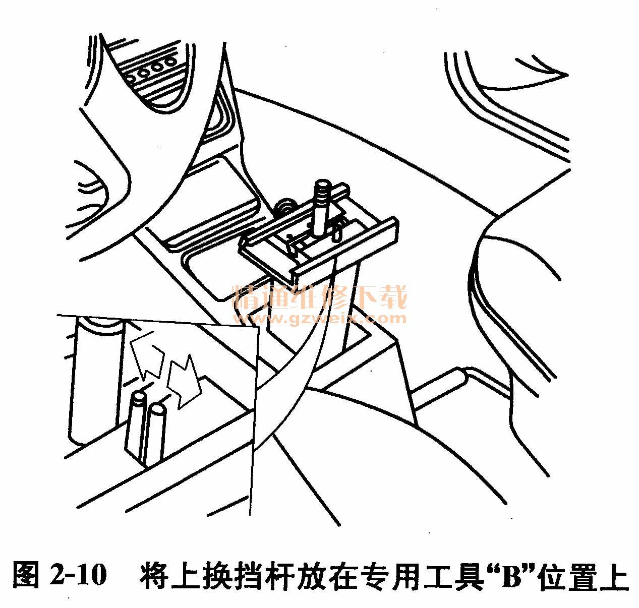 桑塔纳2000gsi型轿车手动变速器(mt)操纵机构的检查与