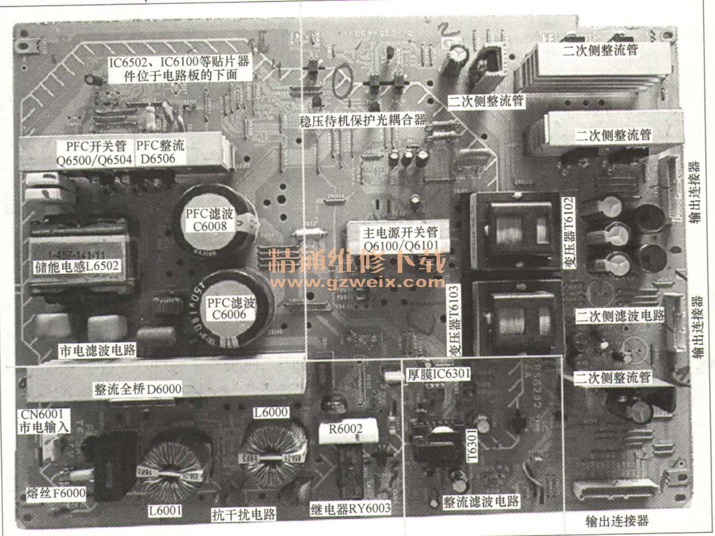 5v开关电源电路图_索尼KLV-46V200 A液晶彩电电源板维修详解 - 精通维修下载