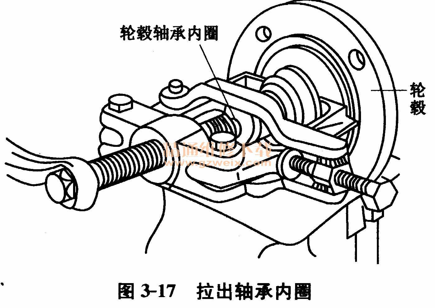 大众桑塔纳2000gsi轿车前轮轮毂轴承的更换
