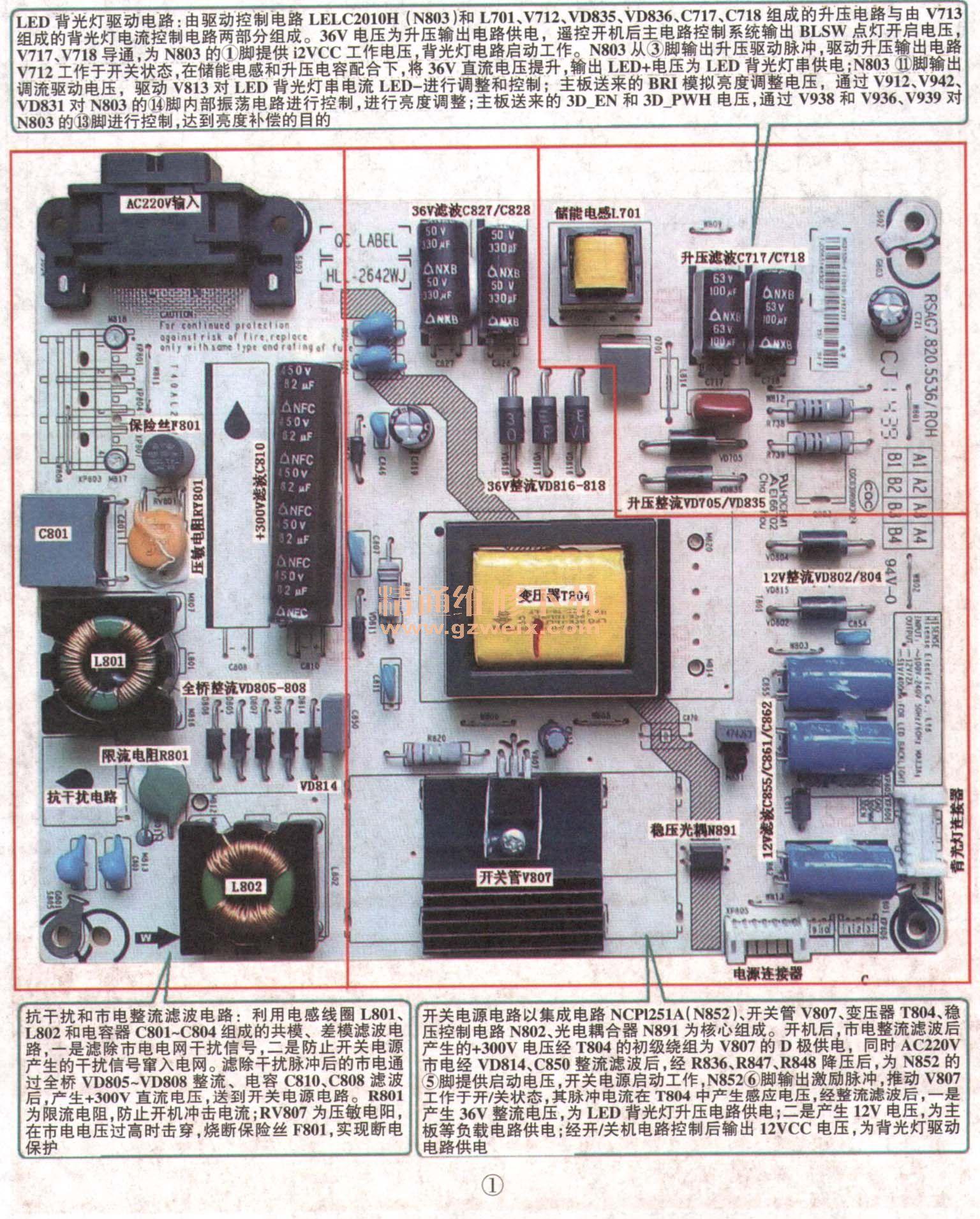 海信手机qq_海信液晶彩电RSAG7.820.5536型电源二合一板维修图解 - 精通维修下载