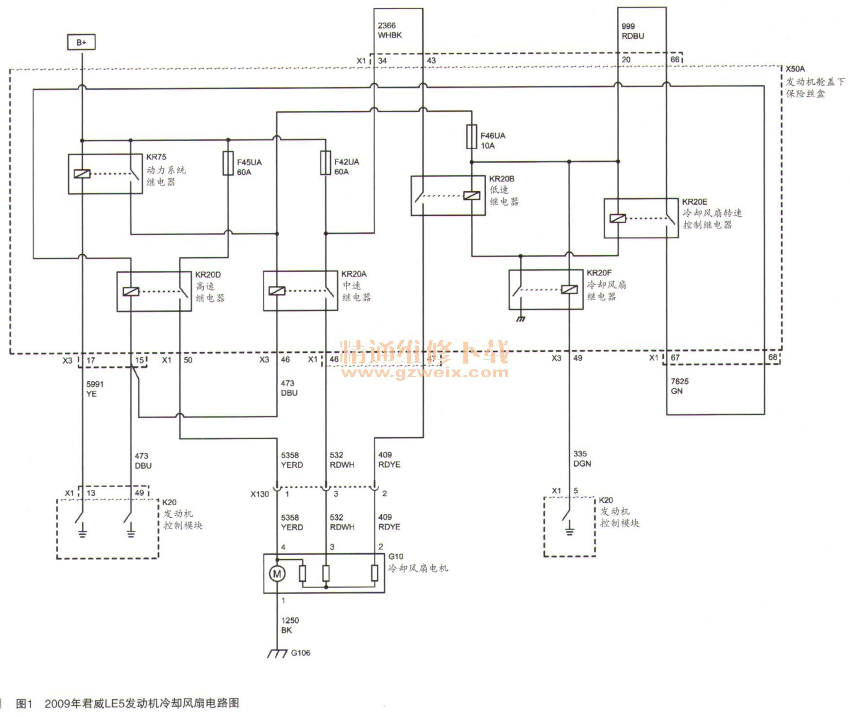 简析发动机冷却风扇电路