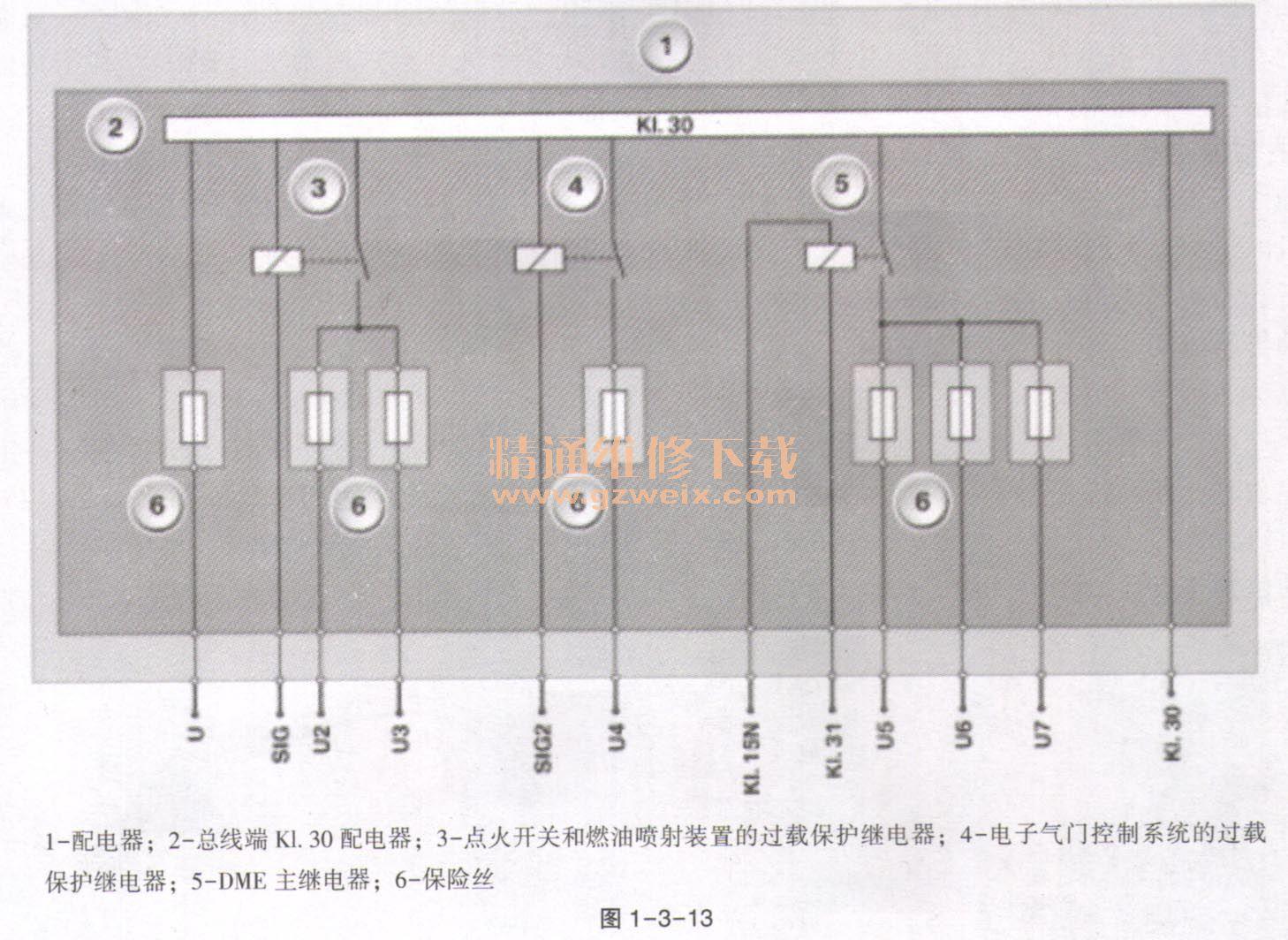 详解宝马车系n20发动机控制系统供电