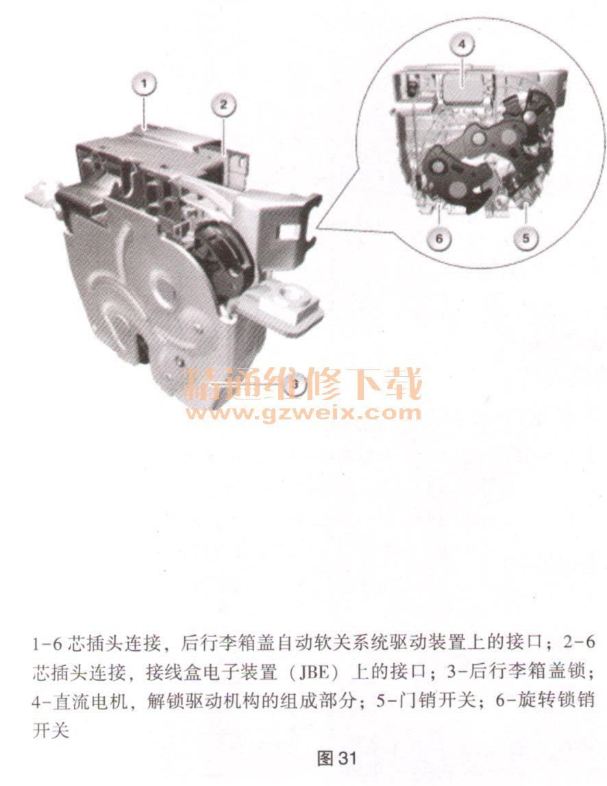 根据车型系列,接线盒电子装置(jbe)或车尾电子模块(rem)或车身域控制
