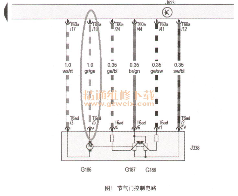 05445 p1545节气门控制功能失效,偶发;08454 p2106节气门控制单元j338