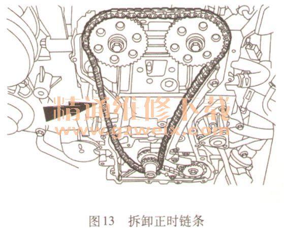 2007~2013年福特蒙迪欧2.3l mi4发动机正时校对方法