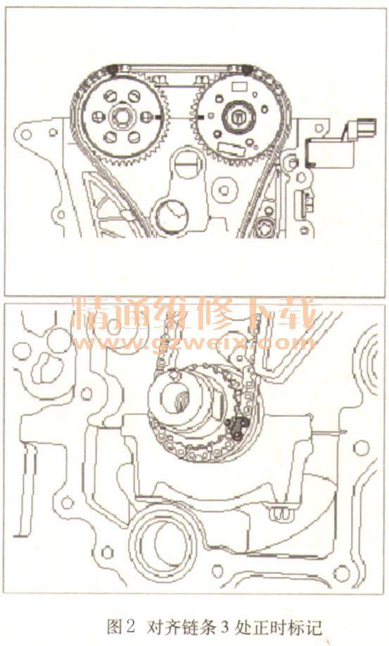 2011~2018年北京现代瑞纳1.4l g4fa发动机正时校对方法