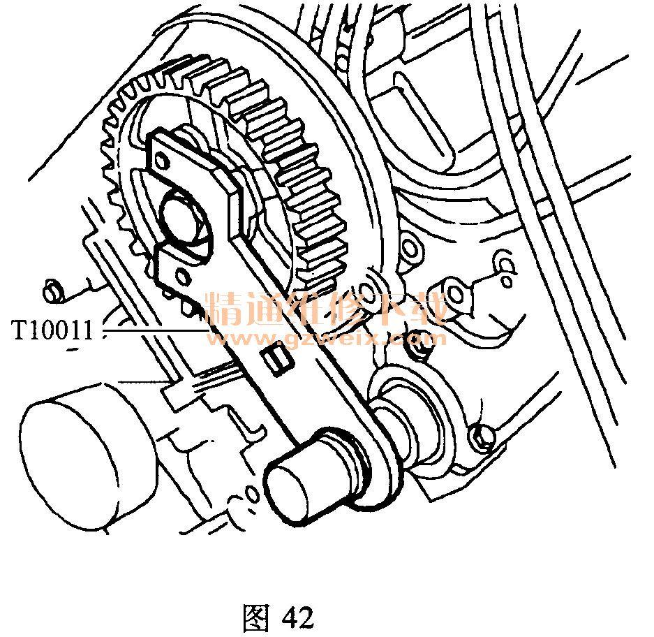 上汽荣威750(2.5l 25k4f)发动机正时传动带安装方法