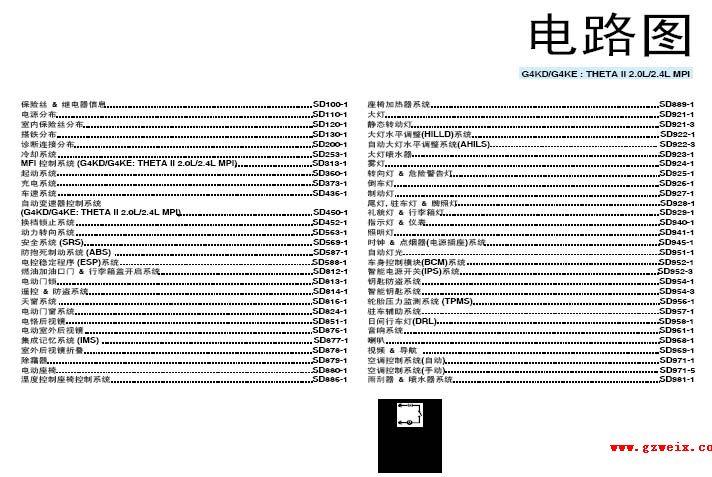 2011年东风悦达起亚k5维修电路图高清图片