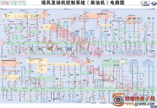 江淮瑞风发动机控制系统 柴油机 电路图图片