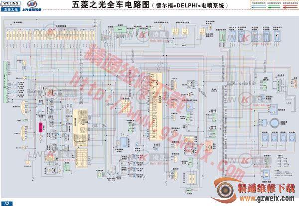 五菱之光全车电路图(德尔福delphi电喷系统)图片
