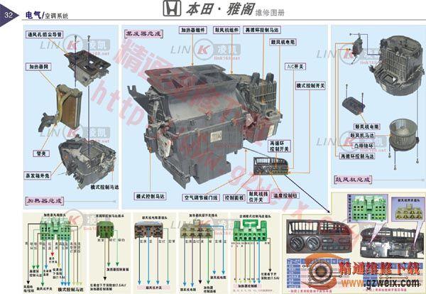 本田雅阁汽车空调系统的组成与工作原理