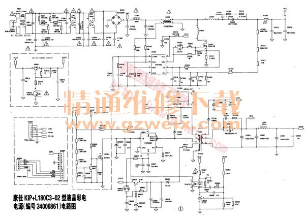 康佳KIP L180C3 02型液晶彩电电源电路图图片