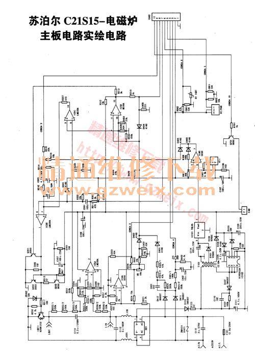 苏泊尔c21s15-电磁炉主板电路图纸 - 精通维修下载