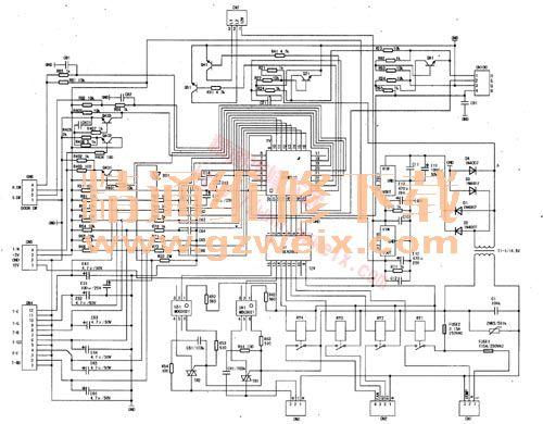伊莱克斯扎努西多温控冰箱电控板电路图