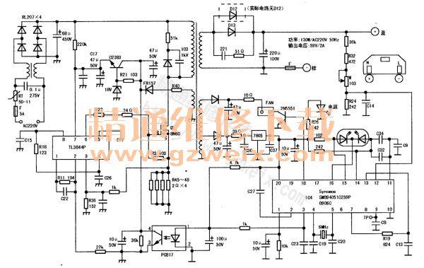 新日sl-4812型电动车充电器电路图